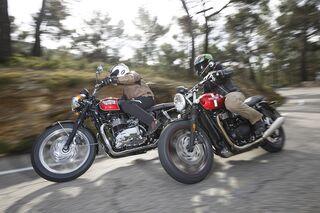 Triumph Street Twin Und Triumph Bonneville T100 Im Vergleichstest
